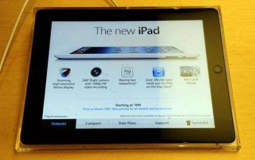Apple's iPad outmuscled its Android-powered tablet computer rivals in early 2012