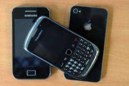 Blackberry was ranked most secure and Android the least in a survey about smartphone operating systems