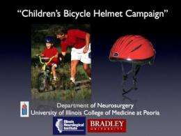 Children's bicycle helmets shown to be effective in impact and crush tests