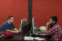 Designers create games for mobile devices at Brazilian outsourcing company Ci&T in Campinas, Brazil in September 2012