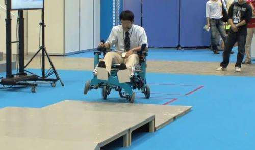 Climbing Chiba wheelchair finds its legs when needed   (w/ Video)