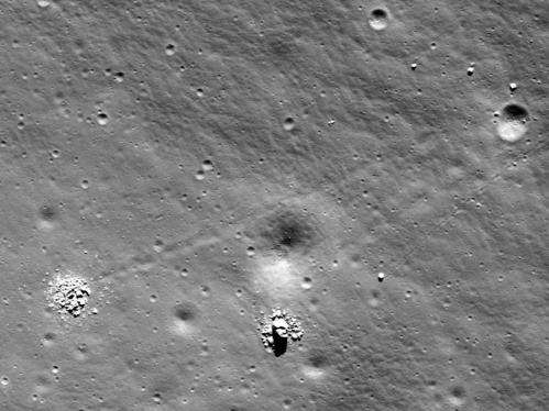 Face-to-face with some shattered lunar boulders