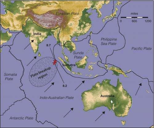 Big quake was part of crustal plate breakup