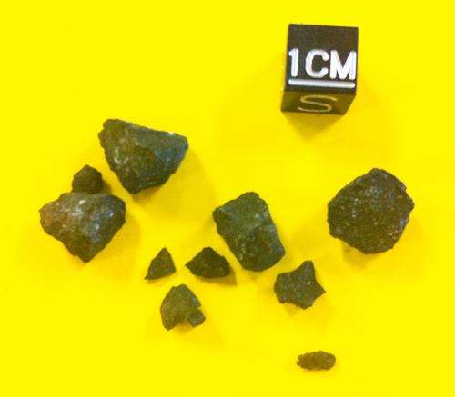 Fragments of meteorite worth their weight in gold