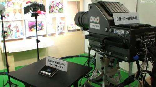 NHK shows downsized Super Hi-Vision video camera