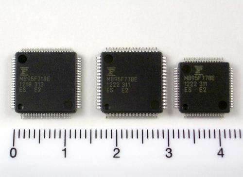 Fujitsu releases 24 new wide voltage 8-bit microcontrollers featuring LCD control functionality