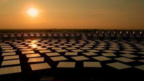Gemasolar stores energy in a vat filled with molten salts at a temperature of more than 500 degrees C (930 F)