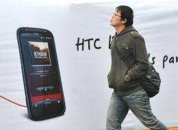 HTC forecast Monday that its revenue in the three months to March may plunge 30 percent from a year ago