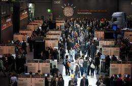 IBM exhibition is seen here at the CeBIT IT fair, in March, in Hanover, central Germany