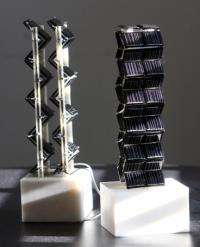 Innovative 3-D designs can more than double solar power generated from a given area