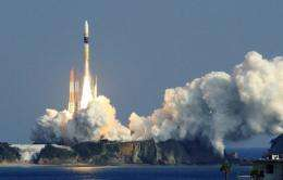 Japan's H-IIA rocket lifts off from the launch pad at the Tanegashima space centre in 2011