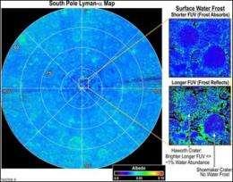 Lunar Reconnaissance Orbiter's LAMP reveals lunar surface features
