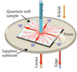 Many bodies make one coherent burst of light: Researchers see superfluorescence from solid-state material