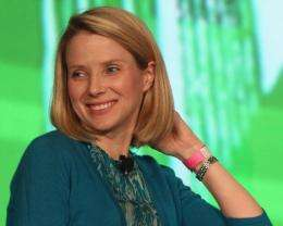 Marissa Mayer, the CEO of Yahoo!, is pictured in May