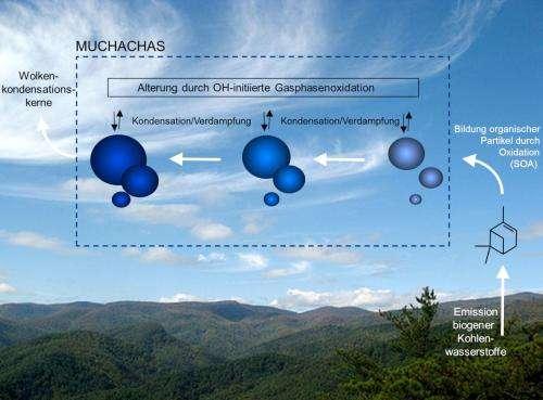 Mechanism of aerosol aging identified