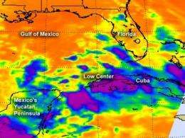 NASA eyeing southern Gulf of Mexico low for tropical trouble