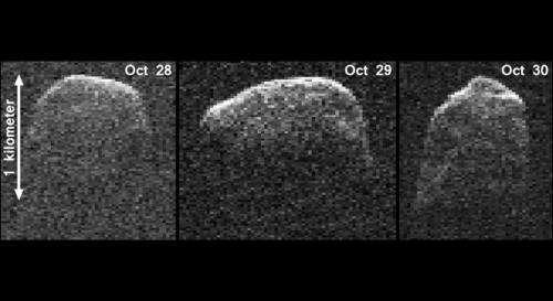 NASA radar images asteroid 2007 PA8