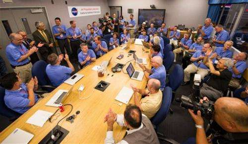 NASA rover Curiosity lands on Mars after plummet