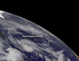 NASA sees Chris become first hurricane of Atlantic season