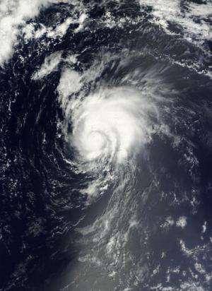 NASA sees wind shear affecting Tropical Storm Gordon