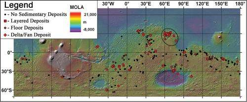 New analysis of clay deposits in ancient Martian Lakes