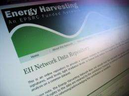 New online energy harvesting data repository launched