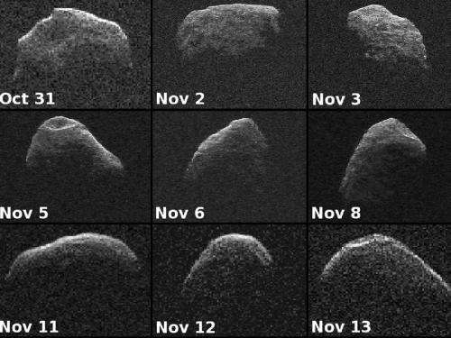 Nine radar images of asteroid 2007 PA8