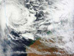 Now a cyclone, NASA sees Lua closer to a landfall in northern Australia