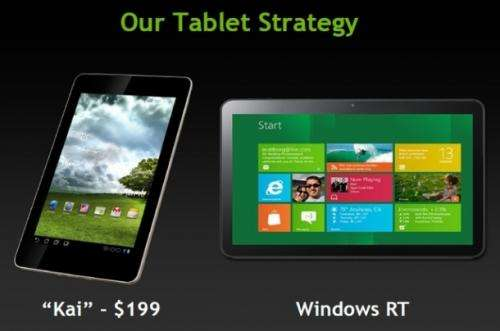 Nvidia says Kai platform will turn price tide for tablets