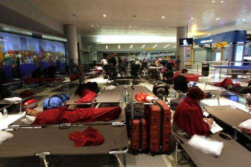 Passengers at New York's John F. Kennedy International Airport remain stranded