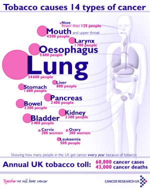 People ignorant of cancers caused by smoking