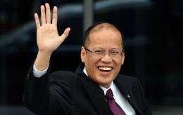 Philippines President Benigno Aquino as he arrives at a summit in Russia's far eastern port city Vladivostok