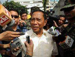 Philippine Vice President Jejomar Binay said hackers brought down his official website for 15 hours Sunday