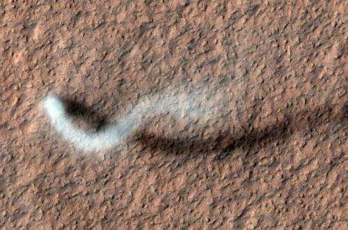 NASA Mars orbiter catches twister in action