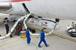 NuSTAR strapped to its plane