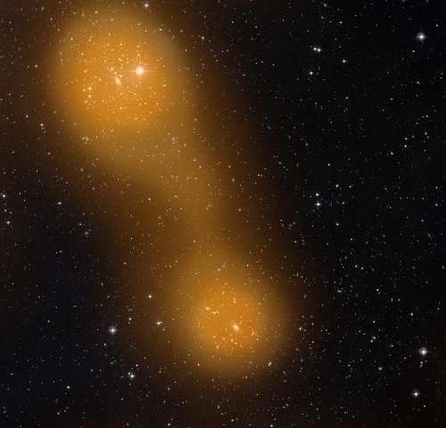 Planck spots hot gas bridging galaxy cluster pair