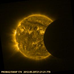 Proba-2 catches solar eclipse