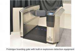 Prototype boarding gate with built-in explosives detection