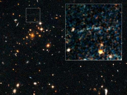 Rare case of gravitational lensing reported (Update)