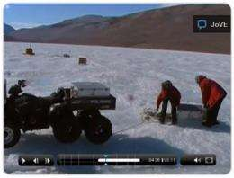 Research on carbon-consuming life-forms in Antarctica published in JoVE