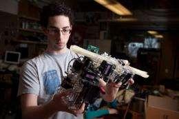 Robot assembles truss structures autonomously