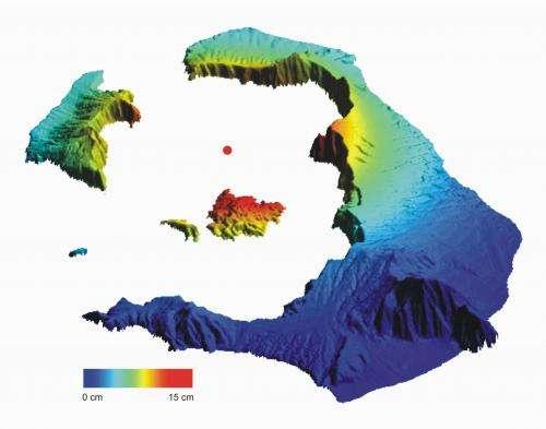Satellite data confirms Santorini's growth