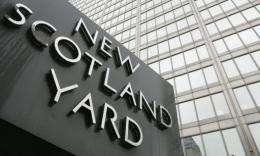 Scotland Yard promotes its anti-terrorist hotline as a confidential service