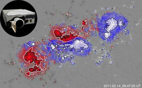 SDO helps measure magnetic fields on the sun's surface
