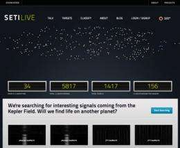 SETI launches SETILive.org to empower citizen scientists
