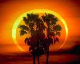 Solar eclipse over the USA