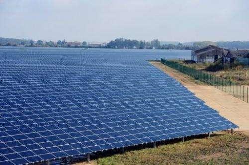 Solar panels in France