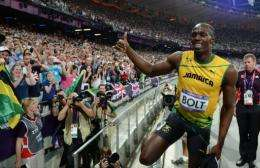 Some 80,000 tweets per minute went out as Bolt won the 200 metres