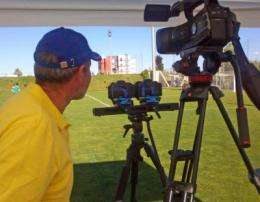 Stereoscopic 3-D for professional training of football referees