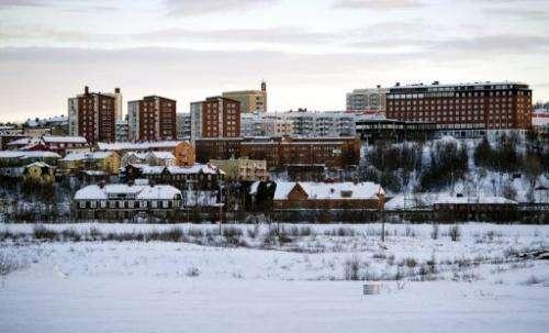 Sweden's northernmost town of Kiruna on November 16, 2012
